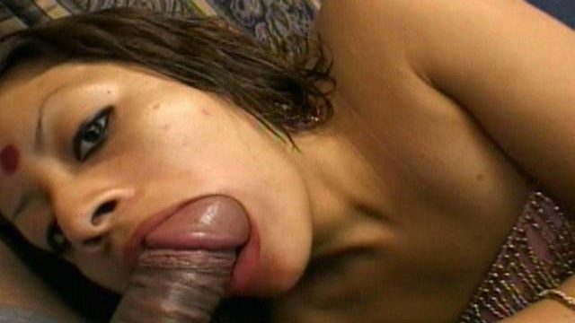 Stunning Indian Kiddie Indra Sucking A Large Furry Pied Piper With Lust