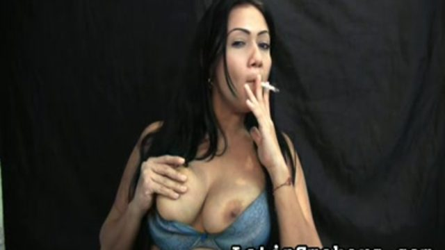Huge-boobed Mom Smoking Fetish Style