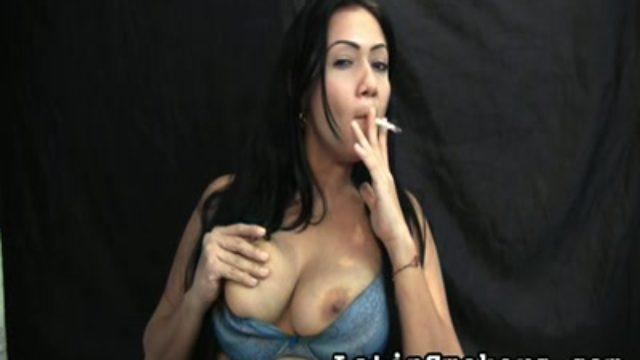 Huge-boobed Mom Smoking Fetish Style