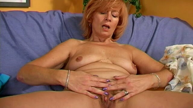Mischievous Grandmother Female Undressing Undies And Toying Along With Her Fur Covered Vag At The Bed