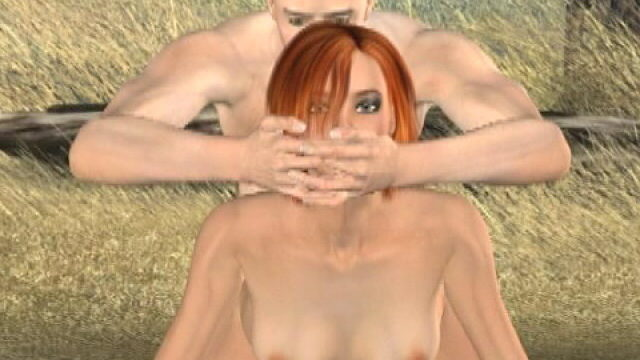 Slutty Redheaded Three-d Tremendous Type Tammy Will Get Copulatestared Domestic Dog Outside