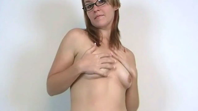 Stockinged Newbie Teen Honey In Glasses Heidi Displaying Her Perky Tits And Dancing Seductively For You