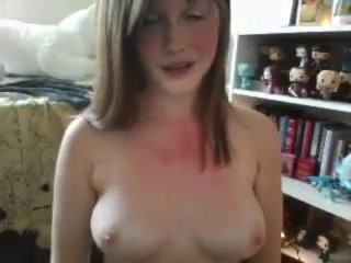 Big-chested Ginger-haired School Lady Bare Camshow Two