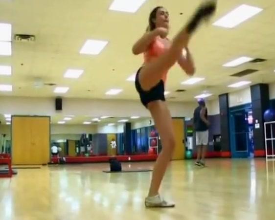 Wild Gal In Gymnasium