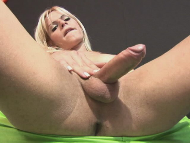 Platinum Platinum-blonde Super-steamy T-girl Thays Schiavinato Frolicking Along With Her Fat Manstick At The Bed