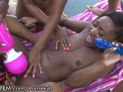 Chanell Middle All Lady Black Group Sex!