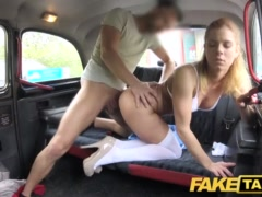 Faux Cab Nurse In Wonderful Undergarments Has Automotive Fuck-fest