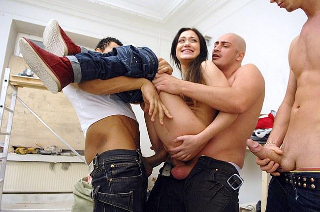 A Gang Of Developers Rock Hard Ravaged Female