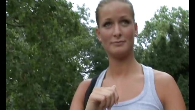Czech Streets – Beautiful Amateur In Park