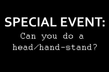 Web Cam Woman Olympics – Head(forearm) Stand