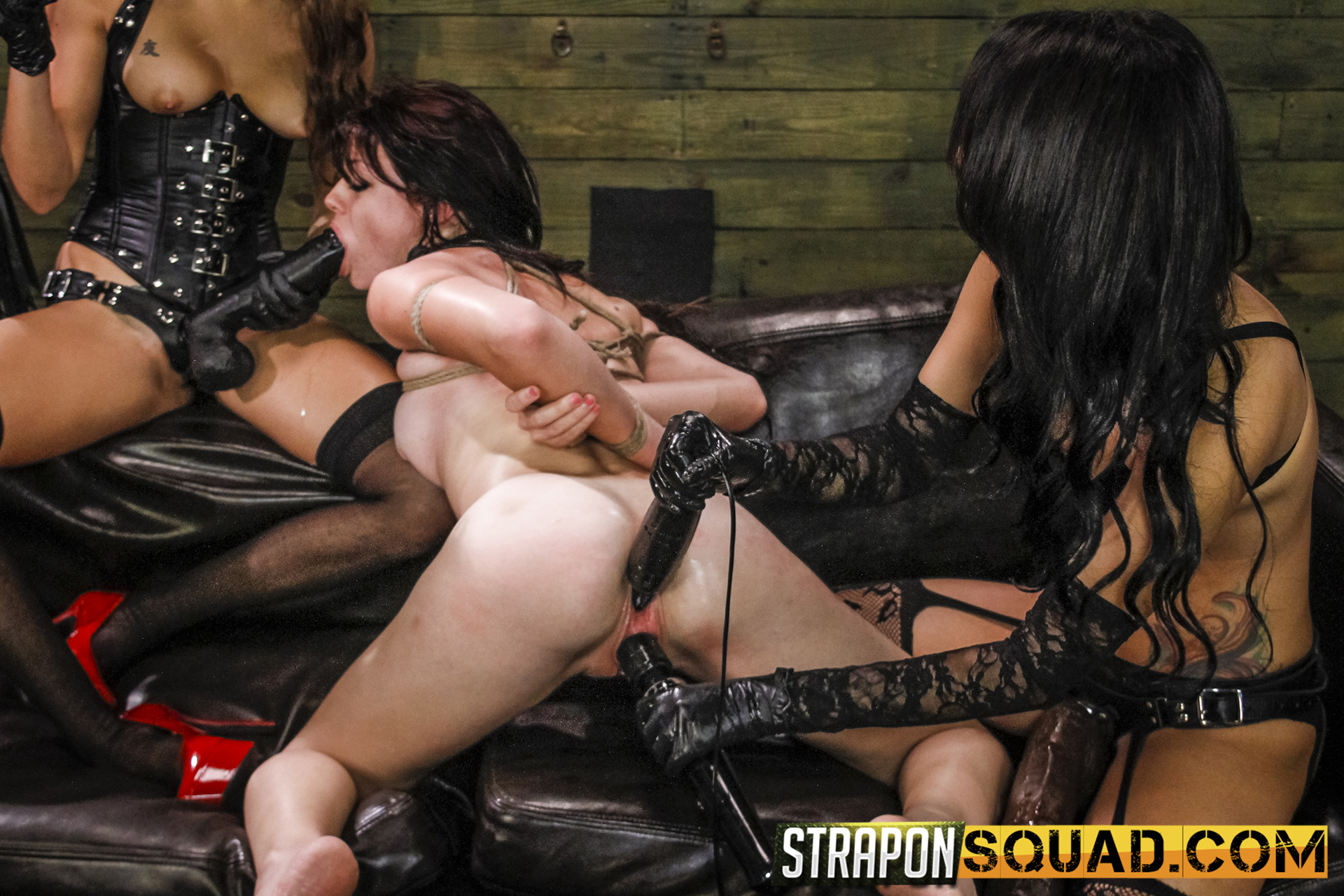Lesbo Supremacy & Sybian Saddle Threeway With Kaisey Dean, Marina Angel, Esmi Lee