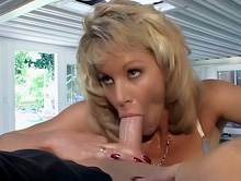 Light-haired Bombshell Will Get Muddy Facial Cumshot
