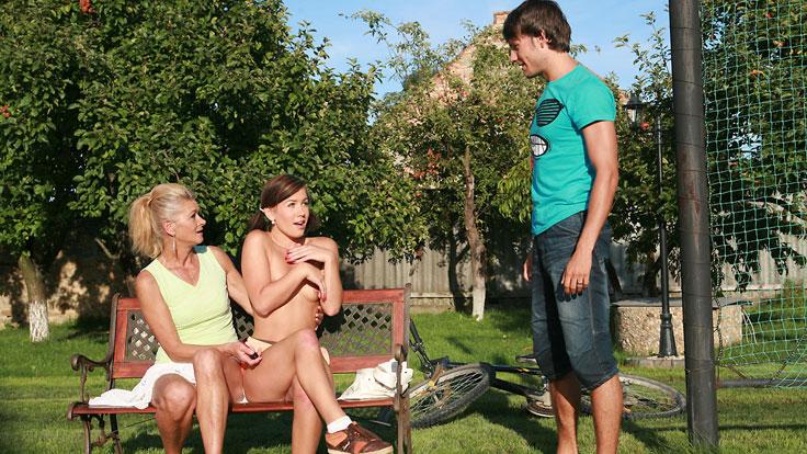 Sporty Mummy Does Sons-in-law Girlfriend