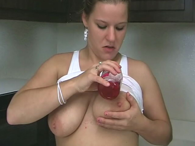 Giant Meloned Ash-blonde Teenager Christy Opening Up Cherries On Her Super-sexy Assets Within The Kitchen