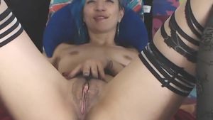 Tattooed First-timer Performs On Digicam
