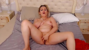 Cutie Nearly Gagging Herself Whilst Jacking